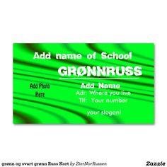 grønn og svart grønn Russ Kort Double-Sided Standard Business Cards (Pack Of Slogan, Business Cards, Things To Come, Names, Prints, How To Make, Lipsense Business Cards, Name Cards, Visit Cards