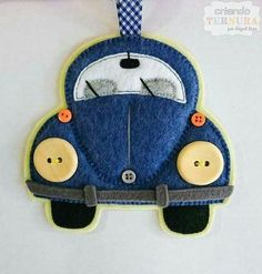 Felt VW bug ornament