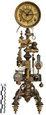 * 3147 JV Clock ~by Roger Wood * #Clockwork #Clockpunk
