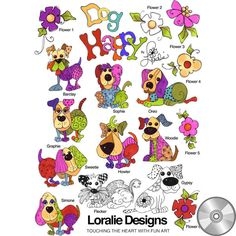 Dog Happy! Embroidery Design Collection | CD