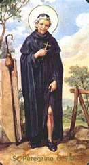 St. Peregrine, an anti-Catholic, had a conversion as a young man. After experiencing a vision from Mary, he became a priest. He lived and worked, as much as possible, in silence, solitude, and without sitting down for 30 years in attempt to do penance for his early life. A victim of a spreading cancer in his foot, he was scheduled for amputation. He spent the night before in prayer; he received a vision of Christ who touched the diseased area. The next morning, his cancer was completely…