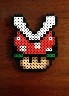 Funky Mushroom Collection - Red Piranha Mushroom via eb.perler. Click on the image to see more!