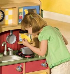 Amazon.com: Little Tikes Deluxe Wooden Kitchen And Laundry Center: Toys U0026  Games