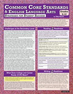 Common Core Standards & English Language Arts - Grade 6-12