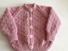 Classic Baby cardigan for 0-3 months baby. Ready to ship.