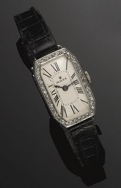 PLATINUM AND GOLD LADY'S WRISTWATCH, ROLEX, 1925S