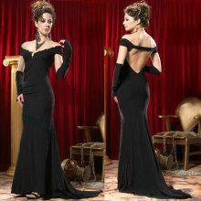 Black Off the Shoulder Backless Mermaid Formal Evening Dresses on Sale