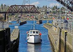Ballard locks, Seattle.  (Hiram M. Chittenden Locks)