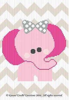 Crochet Patterns - ELEPHANT CHEVRON Baby Graph/Chart Afghan Pattern