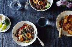"Sesame Noodle Salad with Seared Mushroom ""Scallops"", a recipe on Food52"