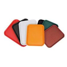 Cafeteria lunch trays - I use these endlessly in the kitchen to organize ingredients, to carry meat to the grill ... cheap and easy!  Amazon.com: Winco FFT-1418U Fast Food Tray: Kitchen & Dining