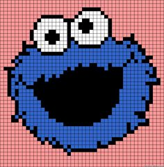 Cookie Monster Sesame Street perler bead pattern
