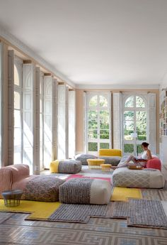 Mangas Space design Patricia Urquiola for GAN, the textile brand of GANDIABLASCO