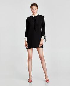 Image 1 of CONTRASTING MINI DRESS from Zara