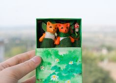 #Miniature #pair of #foxes