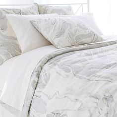 Pine Cone Hill PCH Marble Natural Duvet Cover ($419) ❤ liked on Polyvore featuring home, bed & bath, bedding, duvet covers, grey king size bedding, gray king size bedding, grey king duvet, grey king bedding and cream bedding