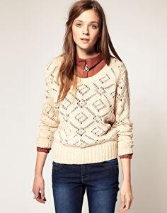 A|Wear Round Neck Cable Knit