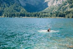 Couple in the water after jumping off boulder Grand Teton National Park, National Parks, Teton Mountains, Whitewater Rafting, Beautiful Stories, Horseback Riding, Outfit Ideas, Couple, Adventure