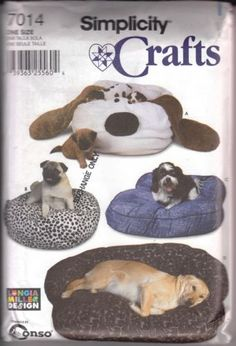 Dog Beds & Couches Pattern Simplicity Crafts 7014