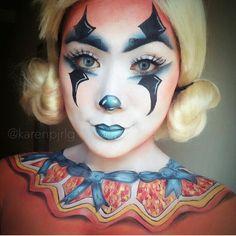 Cute clown face paint