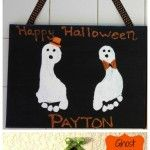 Halloween Ghost Foot Print Crafts
