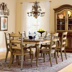 Shop for Hooker Furniture Vineyard Rectangle Dining Table leaves., and other Dining Room Dining Tables at Furniture Galleries in Butler, PA - Pennsylvania. Dining Room Sets, Farmhouse Dining Room Table, Country Dining Rooms, 7 Piece Dining Set, Dining Table In Kitchen, Dining Room Design, Dining Tables, Hooker Furniture, Dining Room Furniture