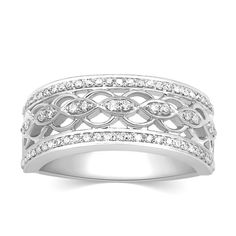 Latest Collection Of Womens 0.15 Ct Classic Eternity Wedding Band Ring White Gold Plated Size 6-9 Engagement & Wedding