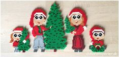 Juletræ nisser i perler Hama Beads 3d, Hama Beads Design, Christmas Lanterns, Christmas Wreaths, Christmas Ornaments, David The Gnome, Hama Mini, Advanced Embroidery, How To Make Lanterns