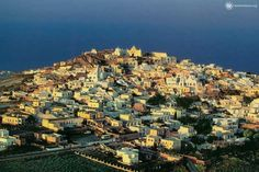 Greece, Village Of Messaria On Island Santorini Tours, Santorini Island, Volcano Rock, Tour Guide, San Francisco Skyline, City Photo, Greece, Cave Houses, Architecture