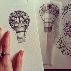 tatuaggio mongolfiera - Cerca con Google