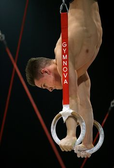 Brinn Bevan of Great Britain trains on the Rings during Day 4 of the 2015 World Artistic Gymnastics Championships at The SSE Hydro on October 26 2015...