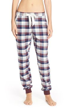 Free shipping and returns on Make + Model Flannel Jogger Pants at Nordstrom.com. Lounge-ready jogger pants in a checkered print are styled with an easy drawstring cord and banded cuffs for a cozy vibe.