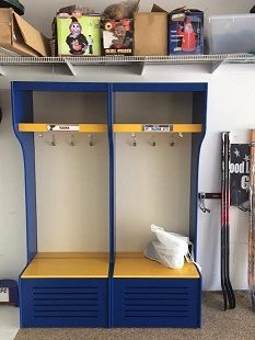 the prostall is a full self standing hockey sport locker to