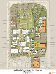 csuf campus map my home town pinterest campus map