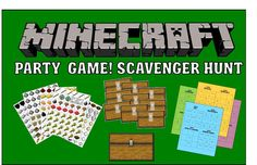Hey, I found this really awesome Etsy listing at https://www.etsy.com/listing/187742693/minecraft-party-game-scavenger-hunt