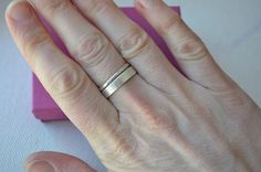 thumb ring idea - mothers ring, children's names stamped inside - silver