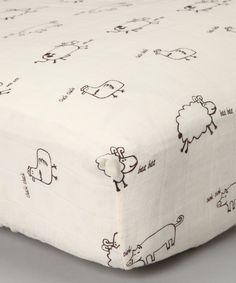 Natural Farm Animal Organic Muslin Crib Sheet   Daily deals for moms, babies and kids