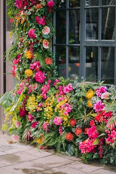 Summer Floral Installations across London City Flowers, Faux Flowers, Real Flowers, Summer Flowers, Beautiful Flowers, Hanging Flower Pots, Flower Wall, Florist London, True Shop