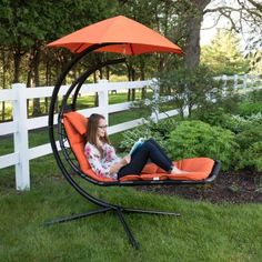 Backyard Landscaping Discover Vivere Original Dream Single Motion Patio Lounge Chair with Orange Zest Cushion DREAM-OZ - The Home Depot Patio Lounge Chairs, Outdoor Lounge, Outdoor Spaces, Outdoor Living, Outdoor Decor, Room Chairs, Patio Lounge Furniture, Outdoor Patios, Office Chairs