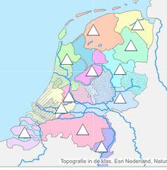 Oefenen van Nederland. Je kunt kiezen tussen provincies, gebieden, wateren, plaatsen.