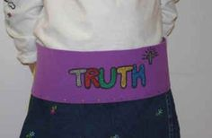 Belt of Truth Craft - simple version and harder version. kingdom rock vbs.