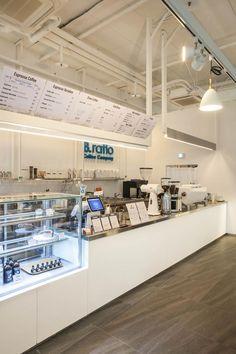 Unique Cafe, Modern Cafe, Bakery Interior, Restaurant Interior Design, Coffee Shop Bar, Coffee Cafe, Cafe Counter, Cafe Shop Design, Counter Design