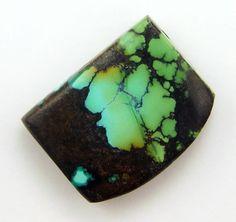 Turquoise Pendant  Hand Cut Freeform Gemstone by WildRavenStudio, $28.00