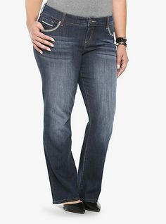 3ee6d3e818499 Torrid Relaxed Boot - Medium Wash with Embroidered Back Pockets