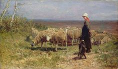 Painter Anton Mauve | Anton Mauve l shepherdress
