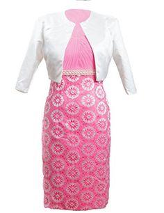 Meibida Women's Pink Lace Tea Length Mother of The Bride Formal Dress with Jacket Meibida http://www.amazon.com/dp/B00Q1176T0/ref=cm_sw_r_pi_dp_HYD2vb1DZ9417