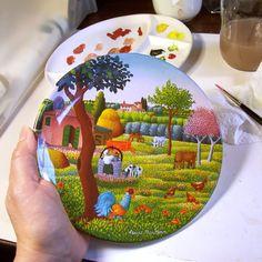 Mill Girl: Ceramic repair demonstration, decorative plate