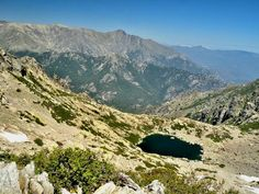 Lake d'Oro from the hiking trail to Monte d'Oro - Corsica