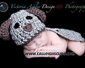 Crochet Pattern- Puppy Dogs (spotted and plain) - Cuddle Cape Set  -Photography Prop