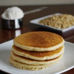 Oat Flour Pancakes-I used almond milk and coconut oil and my kids loved them!